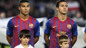 Thiago and Rafinha Alcantara at Barcelona