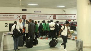 Super Falcons in Gambia