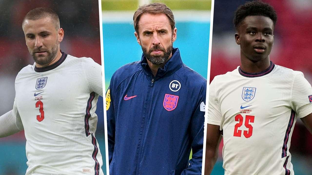 Luke Shaw Gareth Southgate Bukayo Saka England Euro 2020 GFX