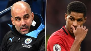 Pep Guardiola Marcus Rashford Man City Man Utd