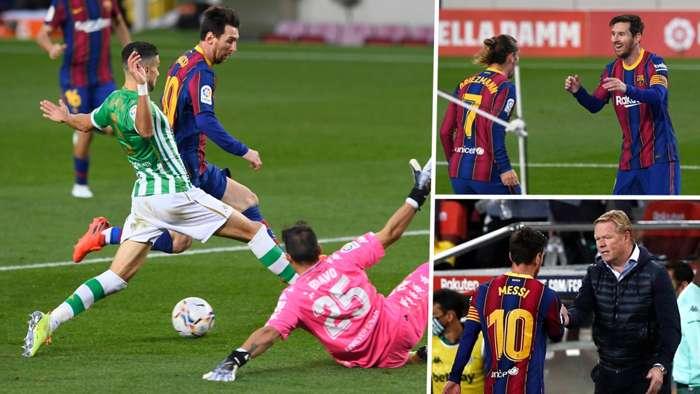 Lionel Messi Antoine Griezmann Ronald Koeman Barcelona Betis 2020-21 GFX