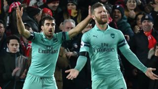 Sokratis Shkodran Mustafi Arsenal 2018-19