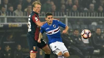 Lucas Torreira Oscar Hiljemark Genoa Sampdoria Serie A