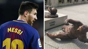 Lionel Messi Barcelona Vandalism