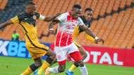 Larry Bwalya of Simba SC vs Bernard Parker of Kaizer Chiefs..