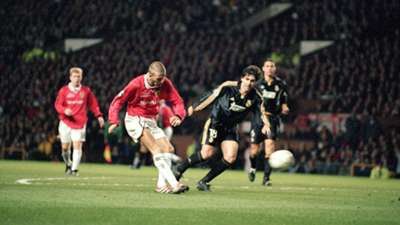 David Beckham Manchester United Champions League Real Madrid 2000