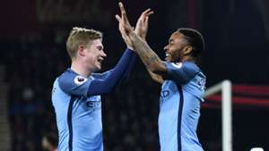 Bournemouth Manchester City Sterling De Bruyne