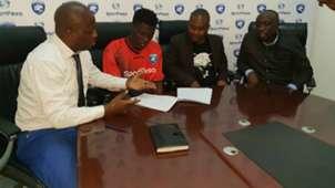 AFC Leopards defender Robinson Kamura and Oscar Igaida and Dan Mulee.