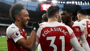 Pierre-Emerick Aubameyang Arsenal vs Man Utd 2018-19