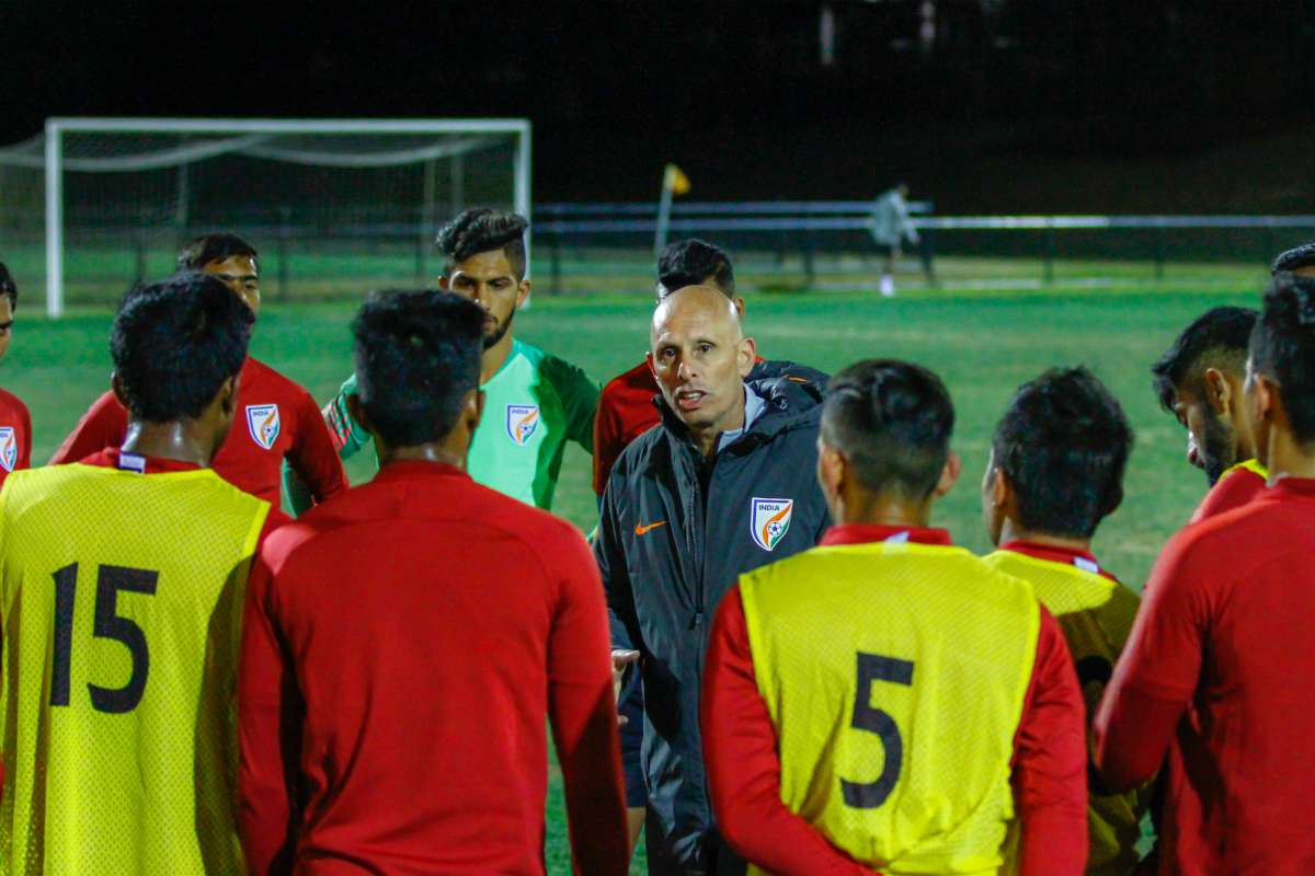 Stephen Constantine Indian national team training in Australia