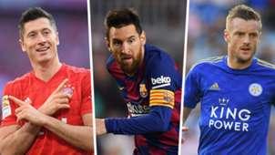 Robert Lewandowski Lionel Messi Jamie Vardy