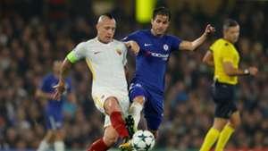 Radja Nainggolan Cesc Fabregas Chelsea Roma Champions League
