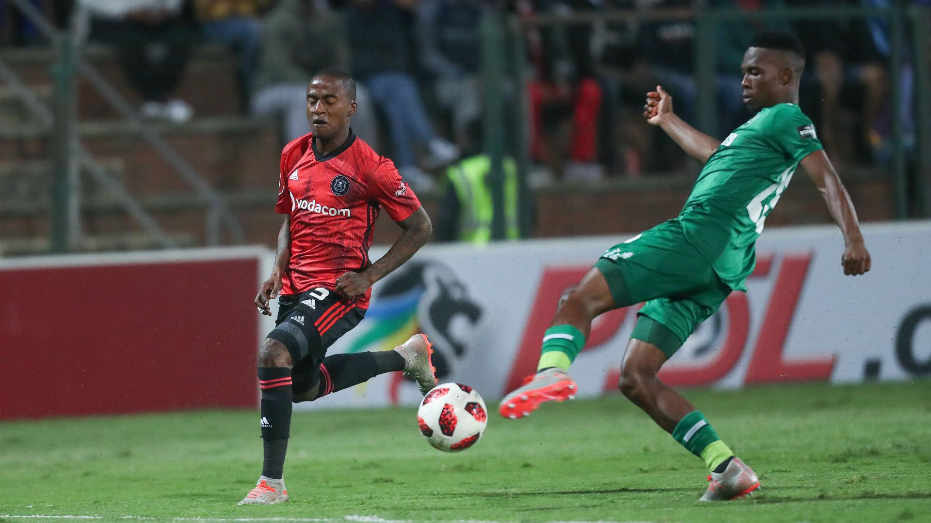 Thembinkosi Lorch of Orlando Pirates against AmaZulu