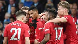 Marcus Rashford Man Utd celebrating 2019