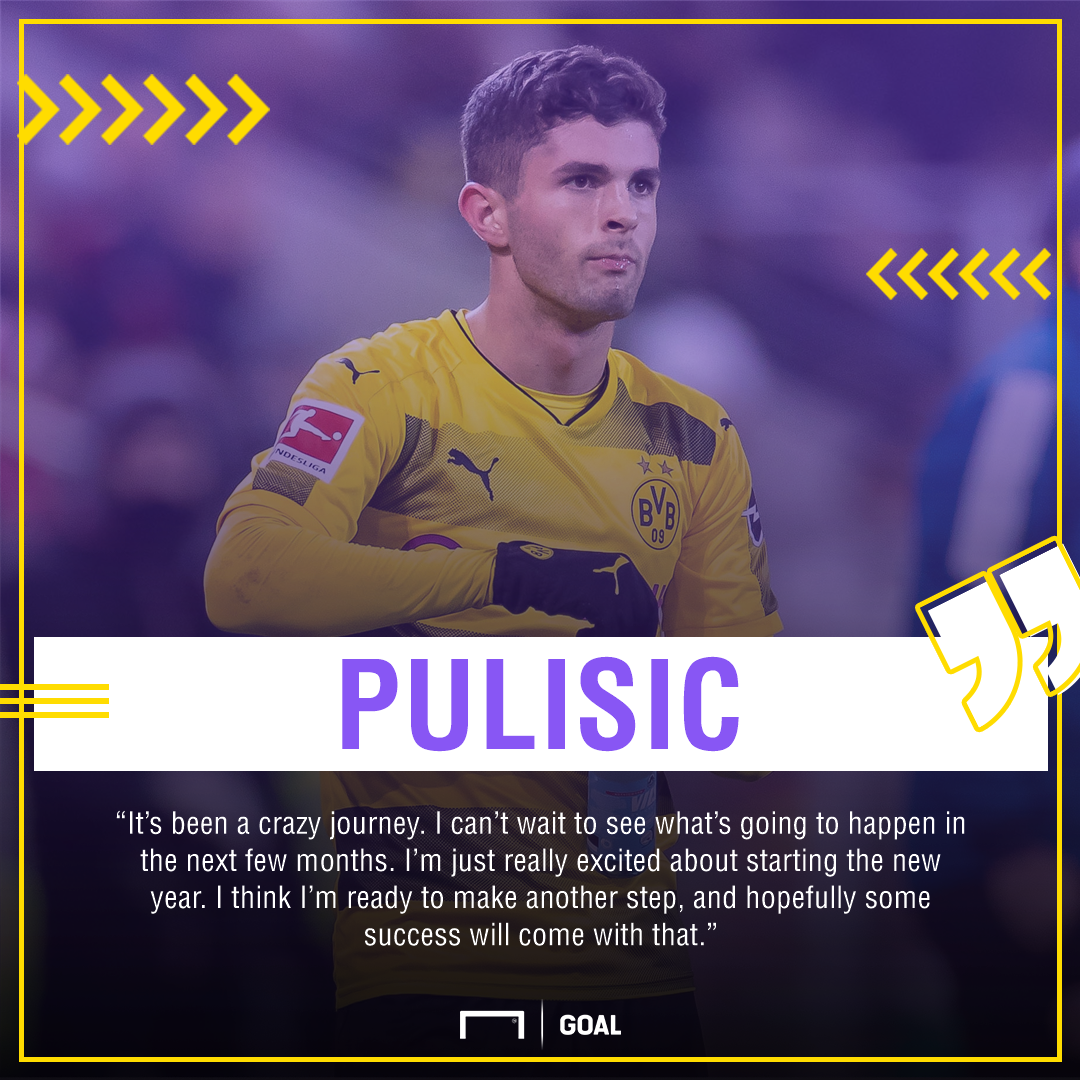 Christian Pulisic next step quote gfx