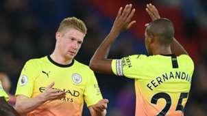 Kevin De Bruyne Fernandinho Manchester City 2019-20
