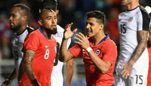 161118 Chile Costa Rica Alexis Sánchez Arturo Vidal
