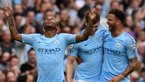 Raheem Sterling John Stones Kyle Walker Man City 2018-19