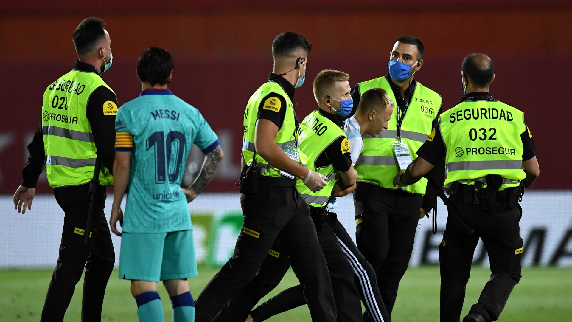 Messi-chasing pitch invader faces stiff punishment after breaking coronavirus protocol