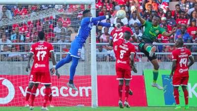 Aishi Manula of Simba SC vs Yanga SC.