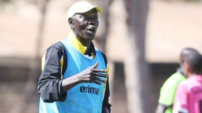 Tusker coach Sam Timbe in action.j