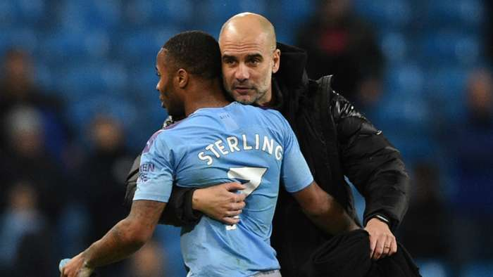Pep Guardiola Raheem Sterling Manchester City Manchester United