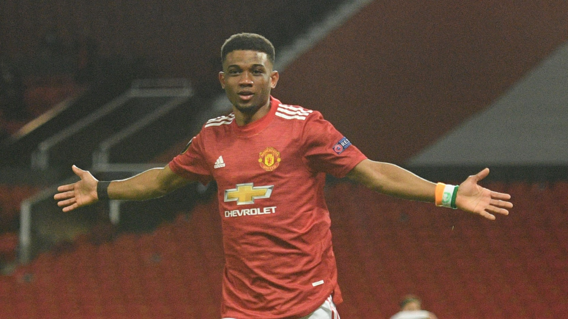 Fernandes and Williams congratulate Diallo on first Manchester United goal