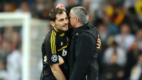 Iker Casillas Jose Mourinho Real Madrid 2012