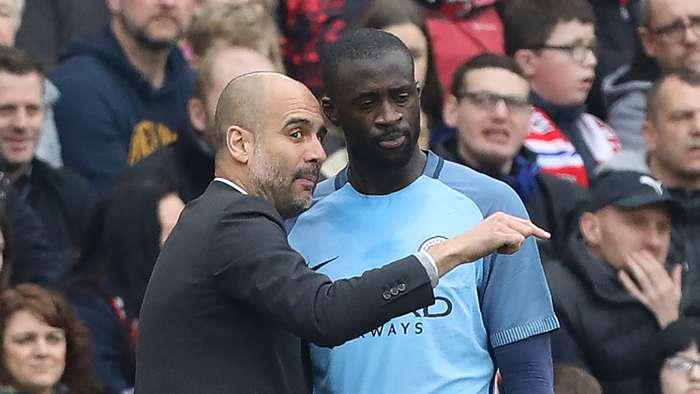 Pep Guardiola Yaya Toure Manchester City