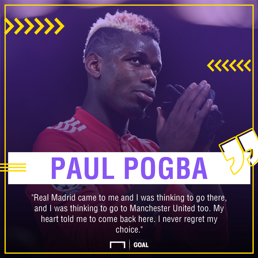 Paul Pogba Manchester United Real Madrid snub