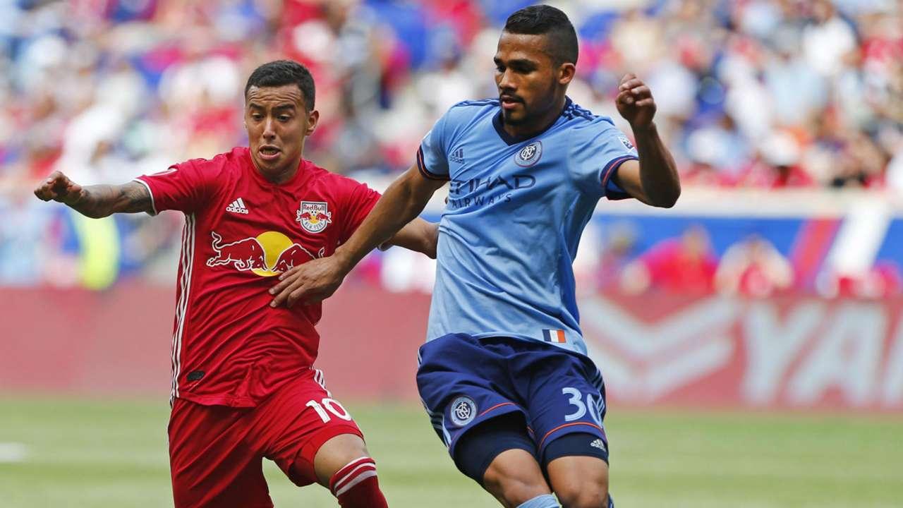 Alejandro Romero Gamarra Kaku Yangel Herrera New York City FC New York Red Bulls MLS 2018