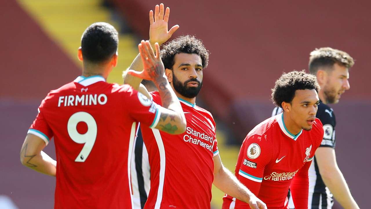 Roberto Firmino Mohamed Salah Liverpool 2020-21