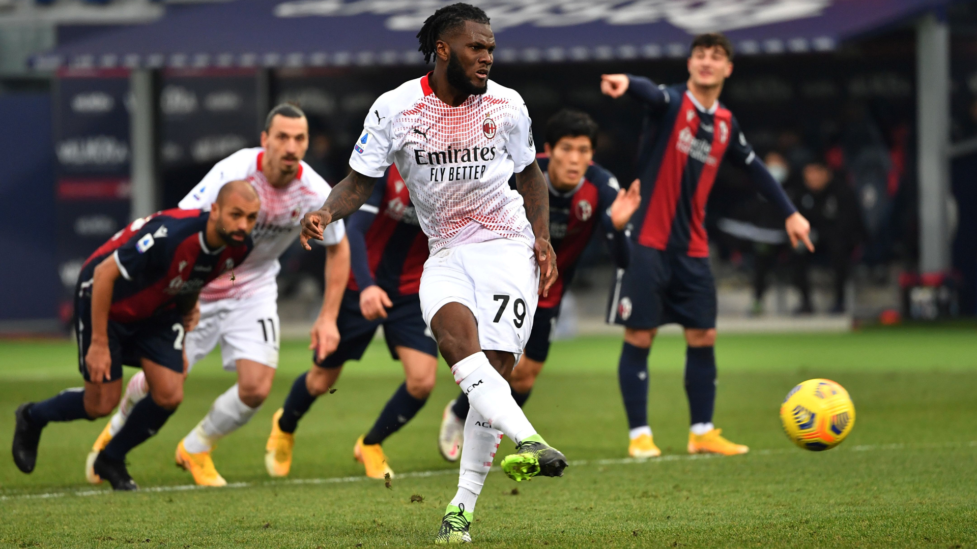 Kessie scores as AC Milan secure victory over Bologna