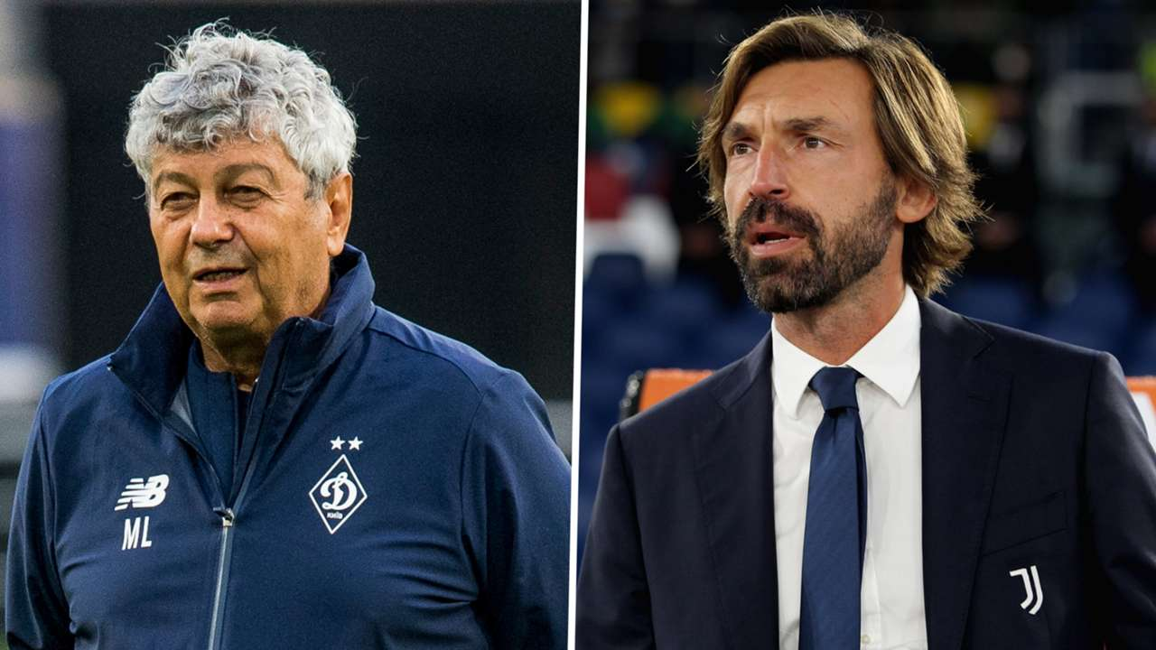 Mircea Lucescu Andrea Pirlo Dynamo Kyiv Juventus GFX