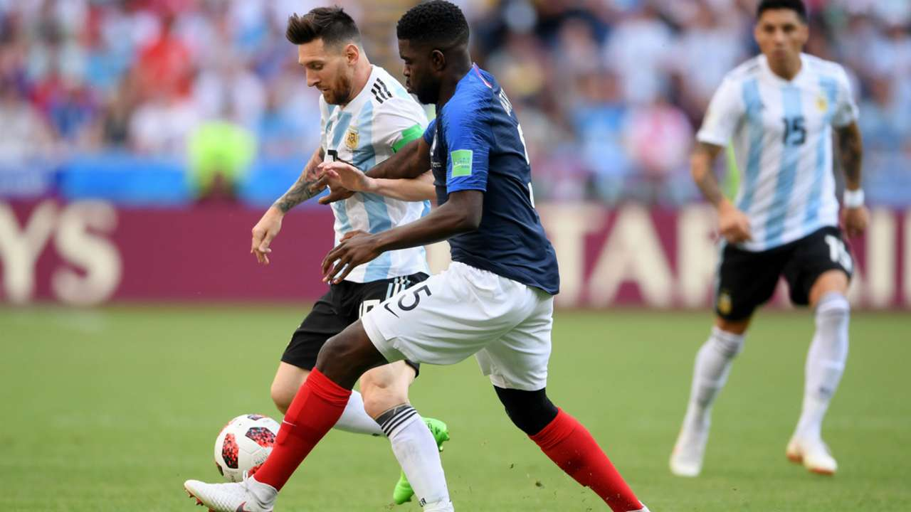 Lionel Messi Umtiti Argentina France Francia World Cup  2018 30062018