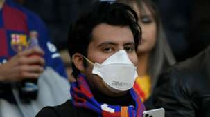 Barcelona fan mask coronavirus
