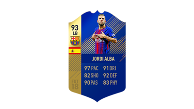 FIFA 18 Ultimate Team of the Season Jordi Alba