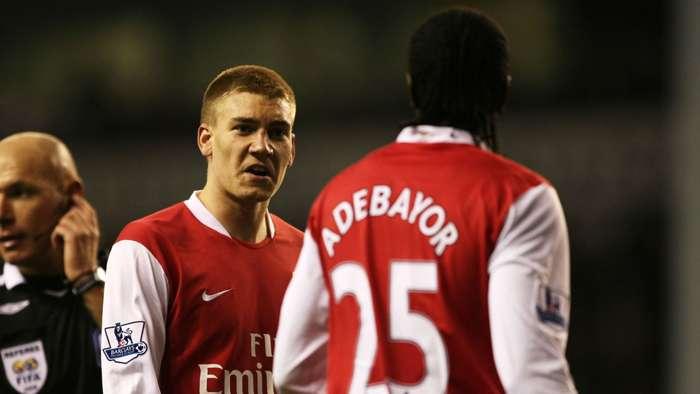 Nicklas Bendtner Emmanuel Adebayor Arsenal