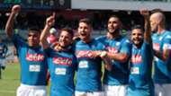 Napoli celebrating Napoli Cagliari Serie a