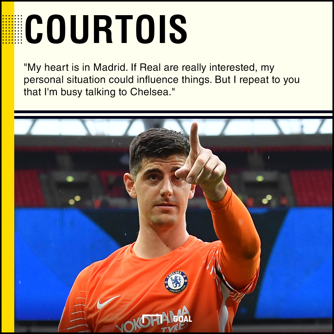 Thibaut Courtois Chelsea heart in Madrid