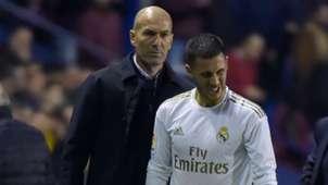 Zinedine Zidane Eden Hazard Real Madrid