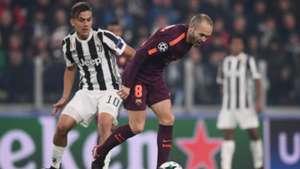 Dybala Iniesta Juventus Barcelona 11222017