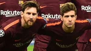 Lionel Messi Sergi Roberto Barcelona