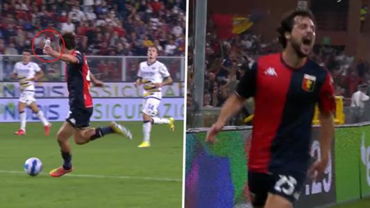 VIDEO - Mit Wasserflasche in der Hand! Genuas Mattia Destro erzielt Traumtor wie Messi gegen Boateng | Goal.com