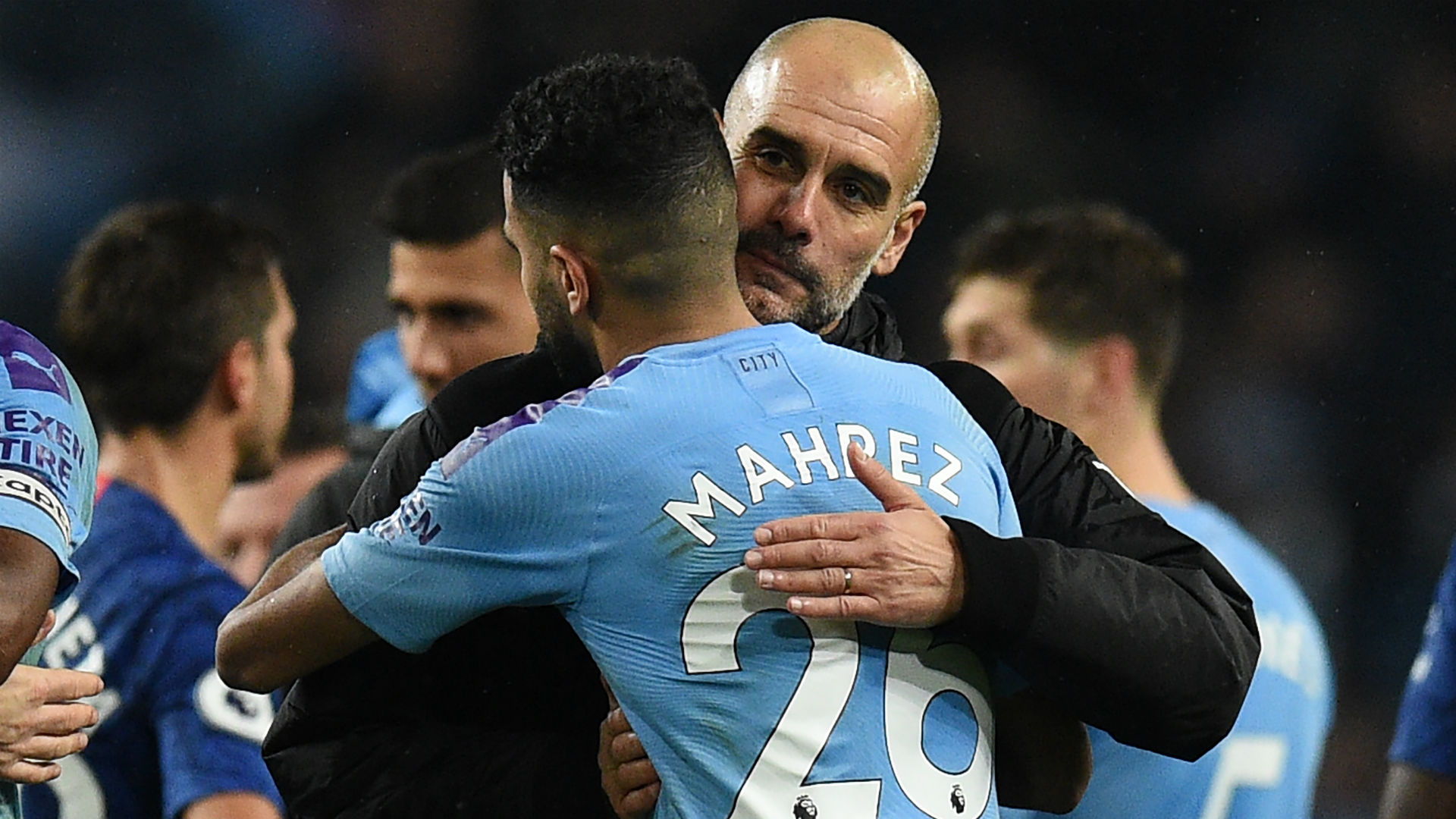 Riyad Mahrez Pep Guardiola Manchester City 2019
