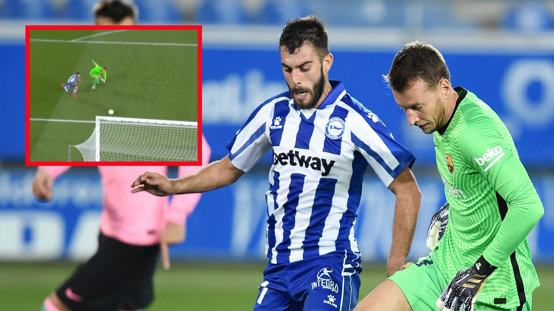 El esperpéntico error de Neto que le costó el gol al Barça frente al Alavés    Goal.com