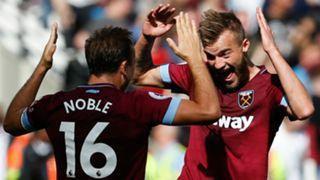 Mark Noble Andriy Yarmolenko West Ham 2018-19