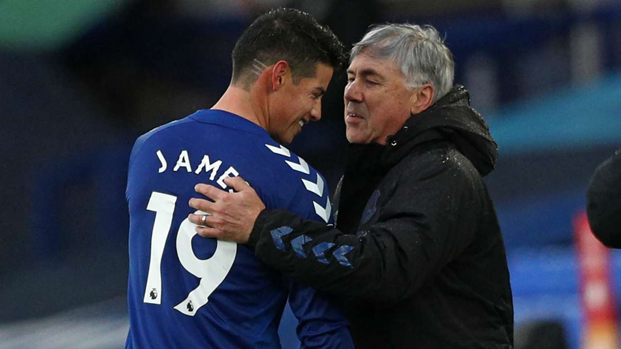 Ancelotti James Rodriguez Everton