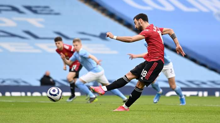 Bruno Fernandes Manchester United City 2020-21