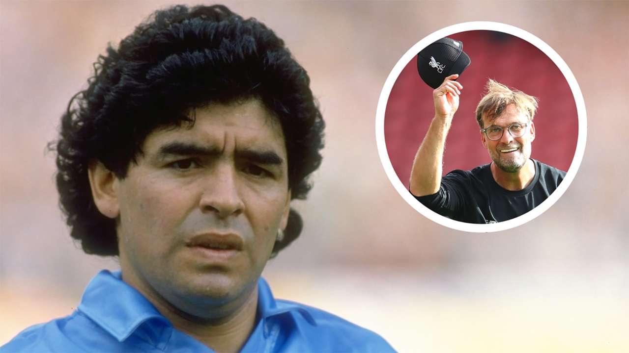 Diego Maradona Jurgen Klopp Napoli Liverpool